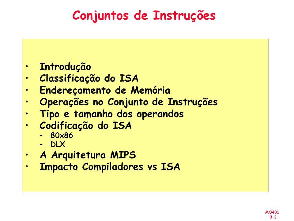Conjuntos de Instruções