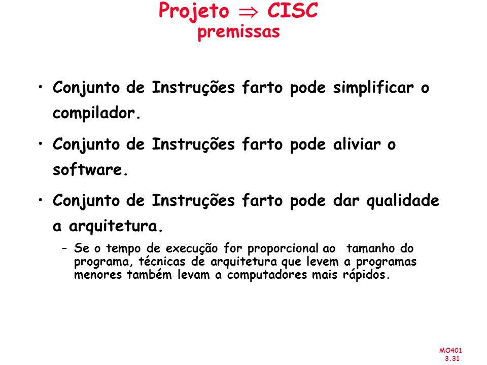 Projeto  CISC premissas