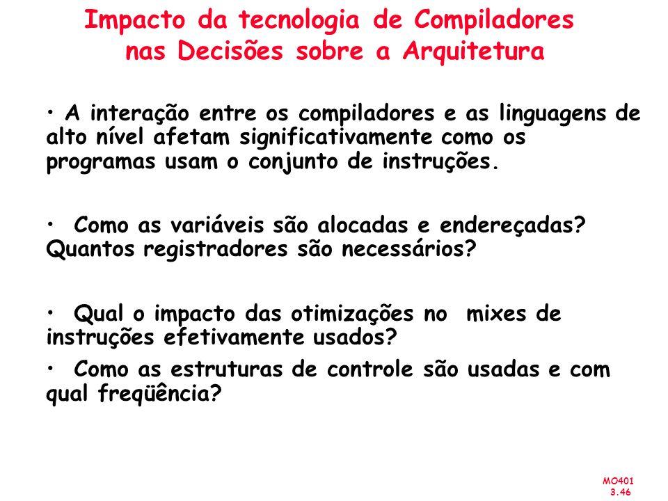 Impacto da tecnologia de Compiladores nas Decisões sobre a Arquitetura