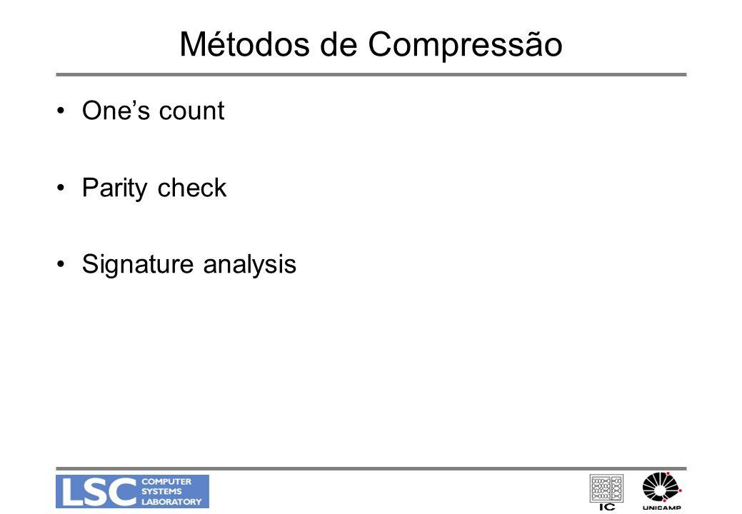 Métodos de Compressão One's count Parity check Signature analysis