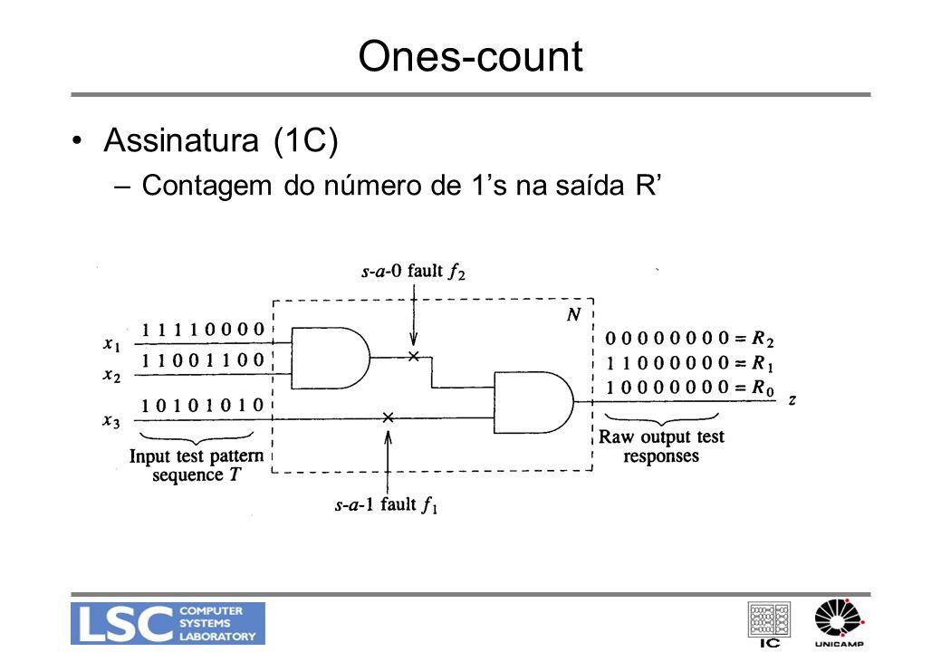 Ones-count Assinatura (1C) Contagem do número de 1's na saída R'