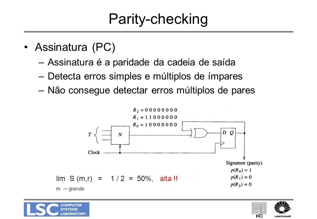 Parity-checking Assinatura (PC)