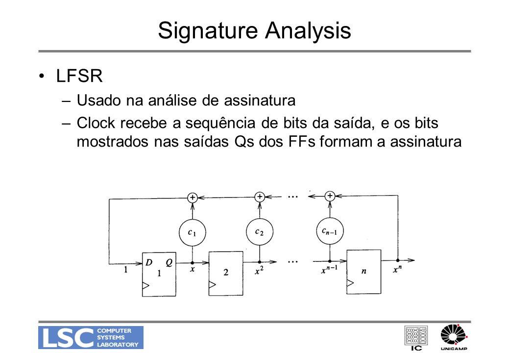 Signature Analysis LFSR Usado na análise de assinatura