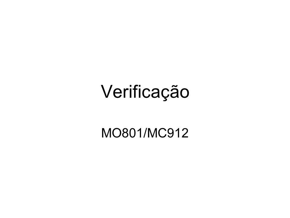 Verificação MO801/MC912
