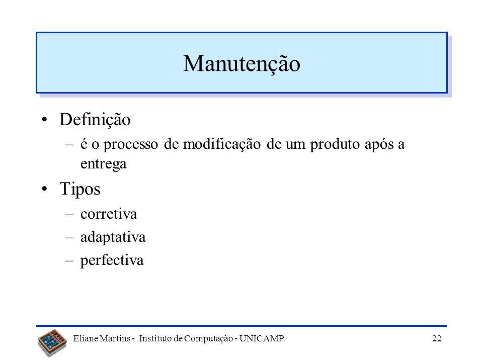 Manutenção Definição Tipos