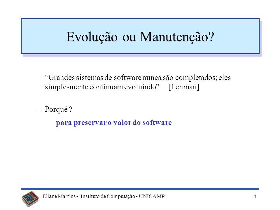 Evolução ou Manutenção