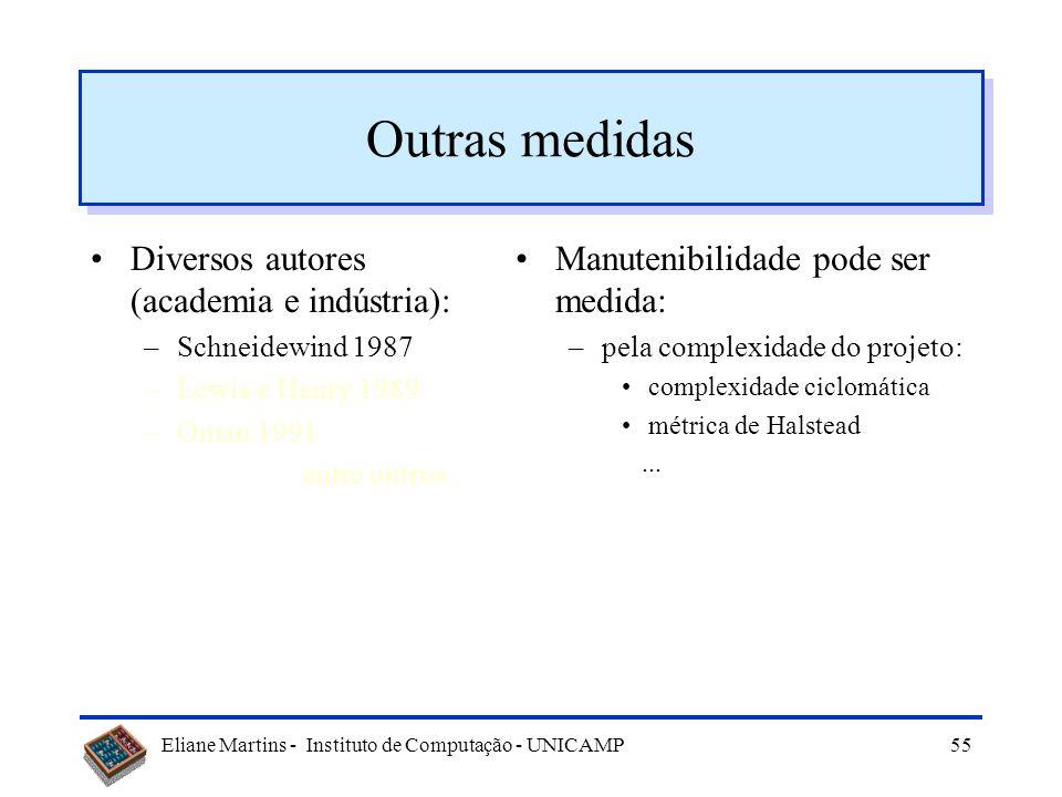 Outras medidas Diversos autores (academia e indústria):
