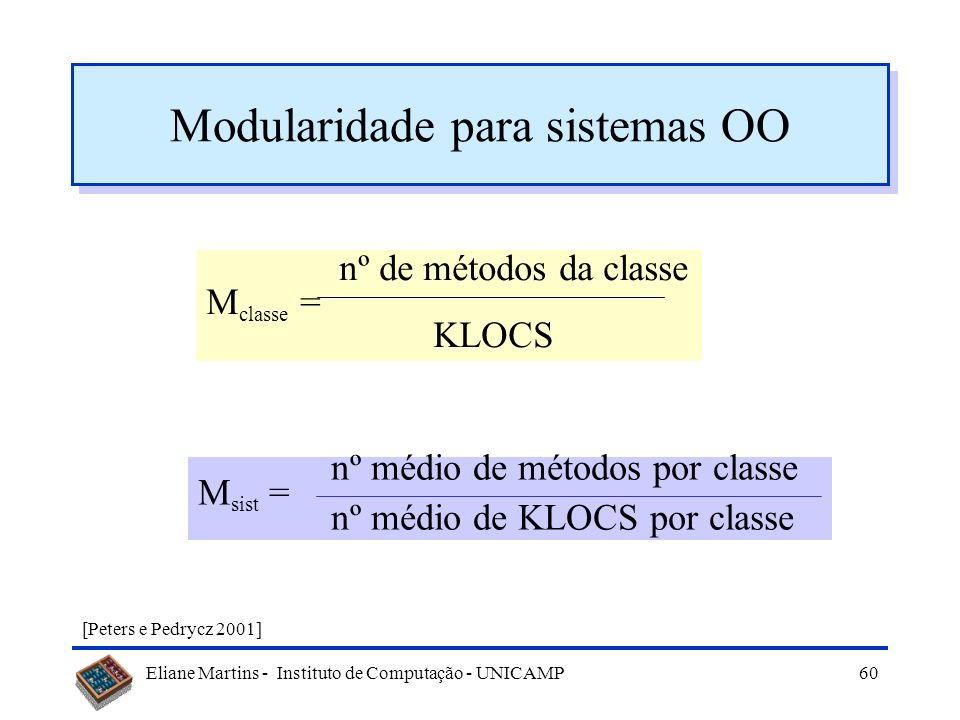 Modularidade para sistemas OO