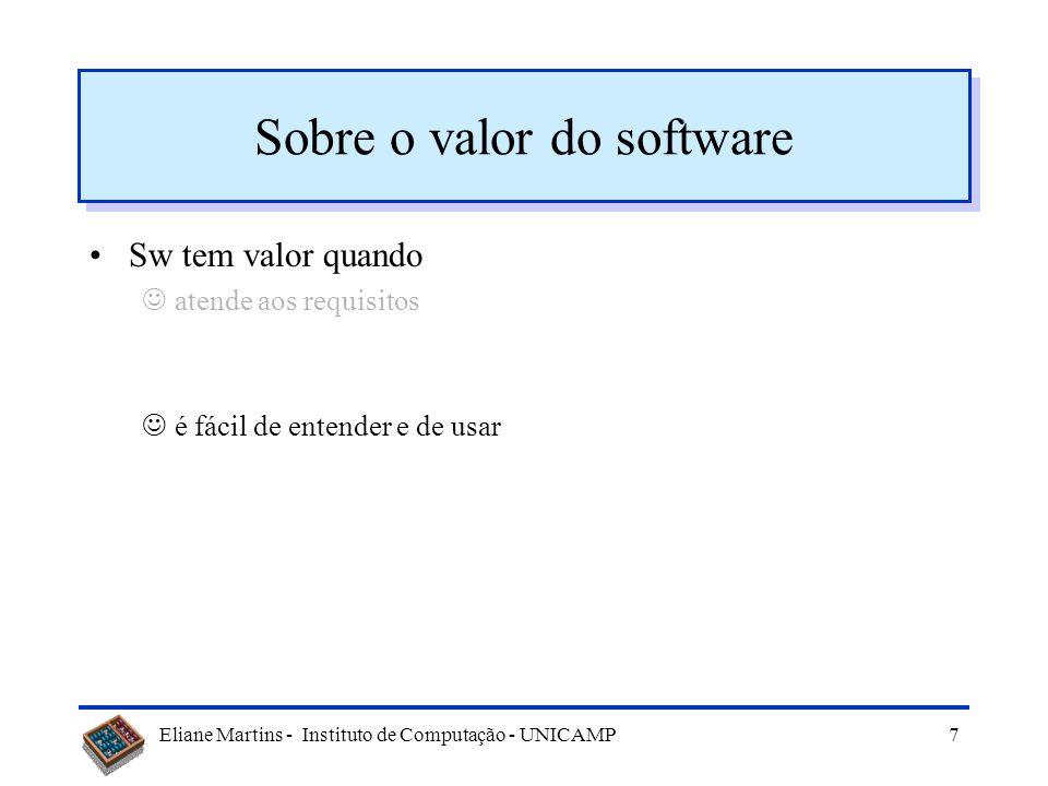 Sobre o valor do software