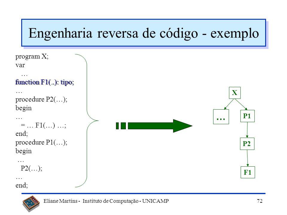 Engenharia reversa de código - exemplo