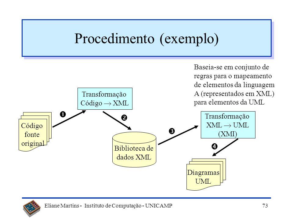 Procedimento (exemplo)