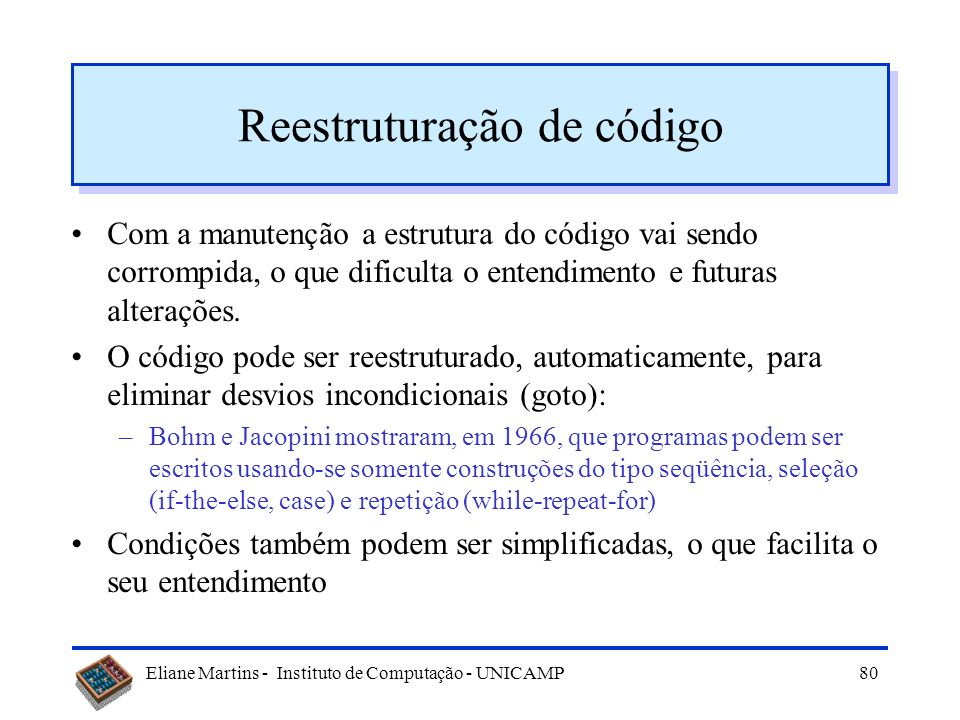Reestruturação de código