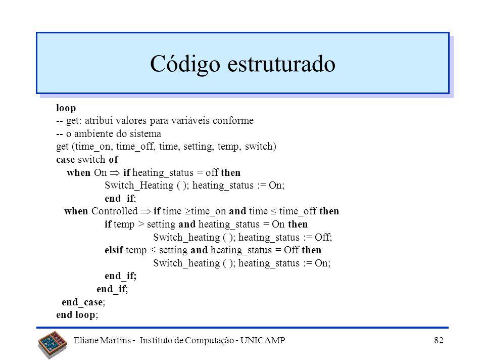 Código estruturado loop