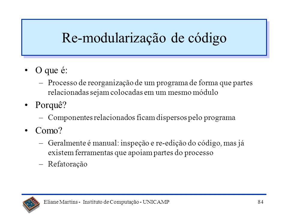 Re-modularização de código