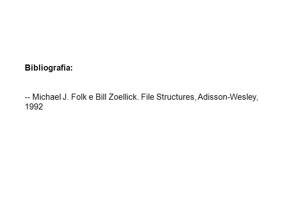 Bibliografia: -- Michael J. Folk e Bill Zoellick. File Structures, Adisson-Wesley, 1992