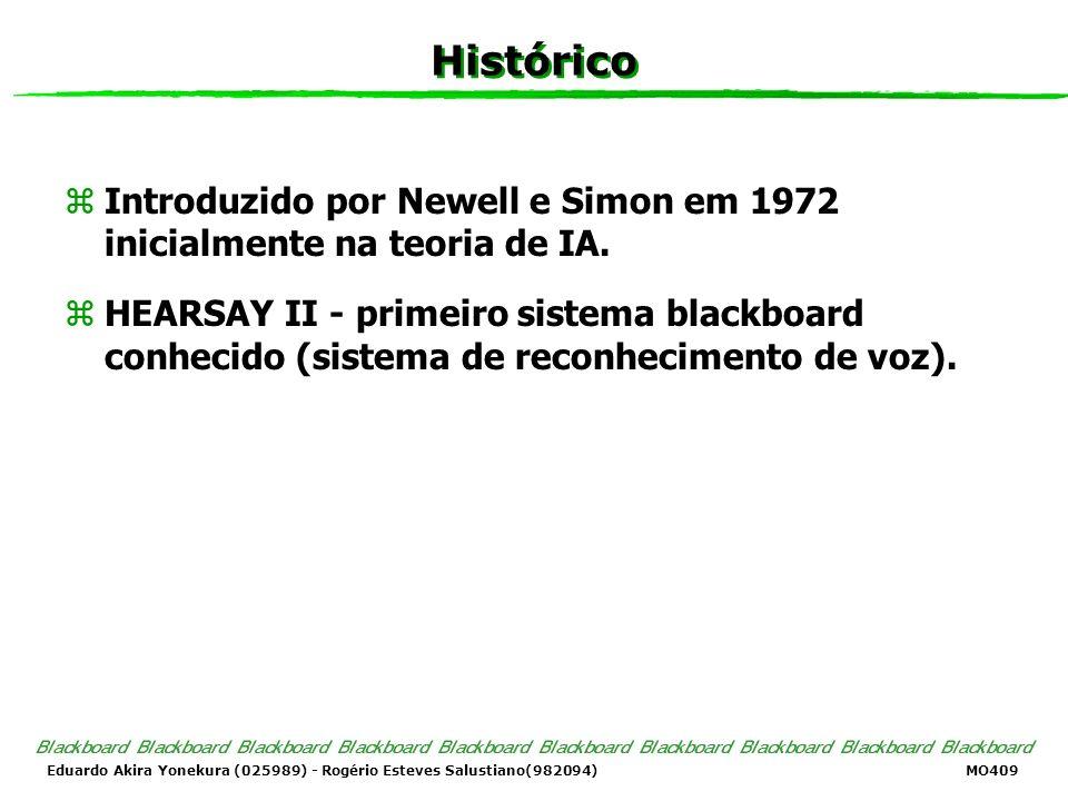 Histórico Introduzido por Newell e Simon em 1972 inicialmente na teoria de IA.