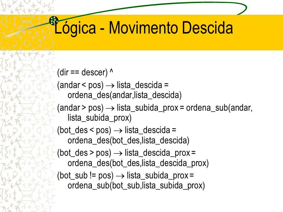 Lógica - Movimento Descida
