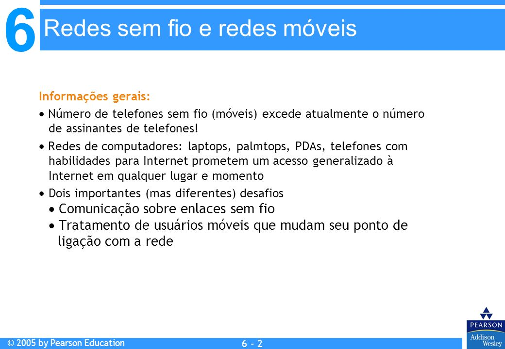 Redes sem fio e redes móveis