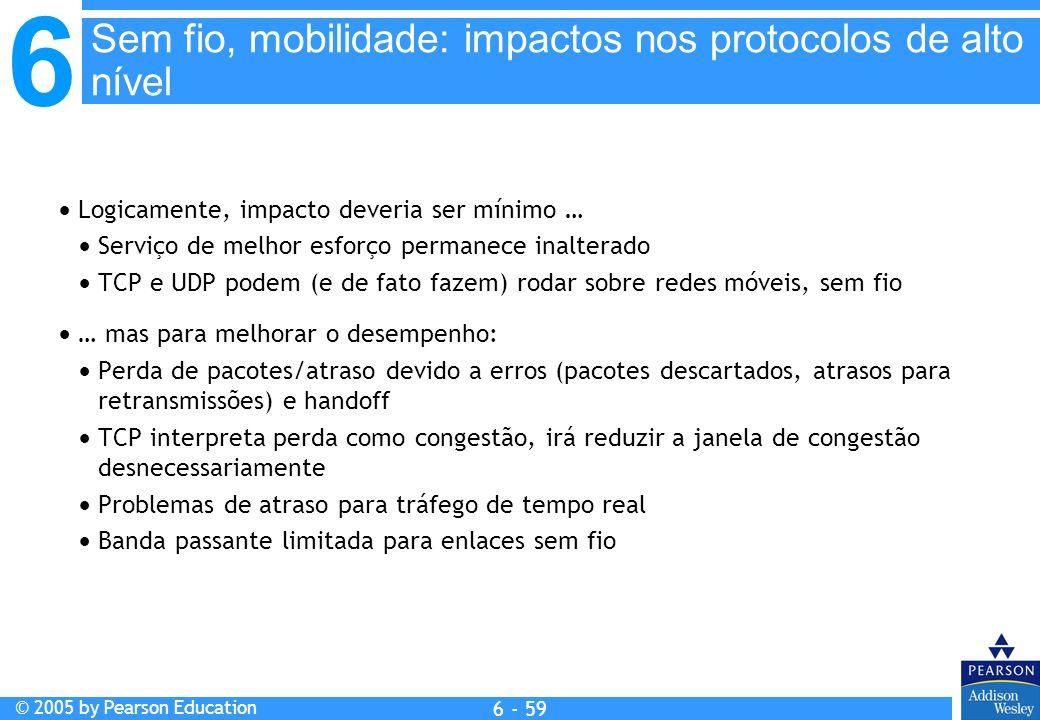 Sem fio, mobilidade: impactos nos protocolos de alto nível