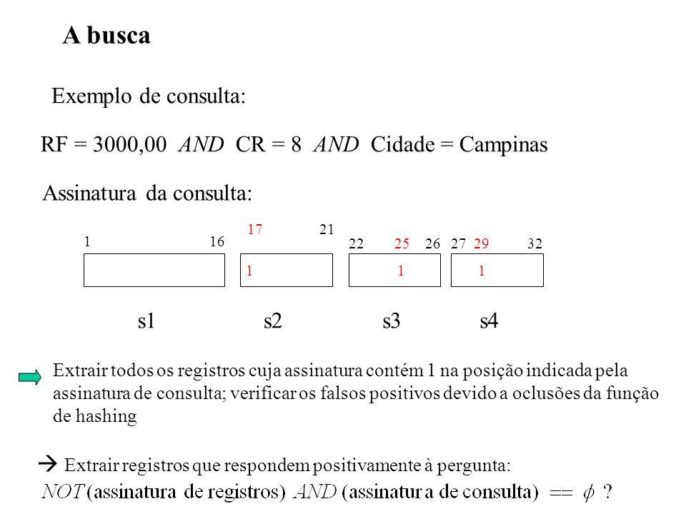 A busca Exemplo de consulta: