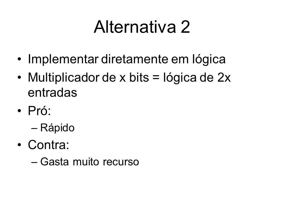 Alternativa 2 Implementar diretamente em lógica