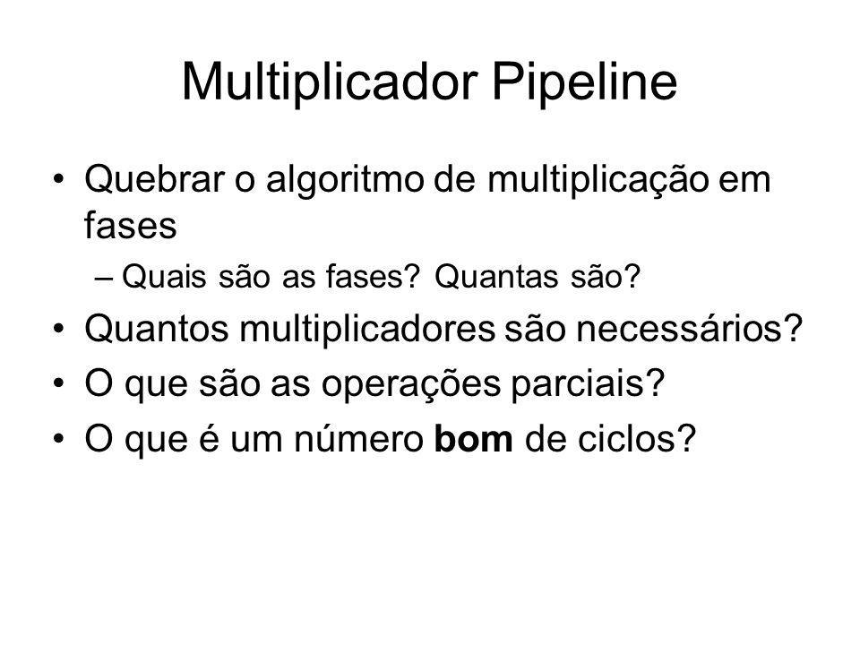 Multiplicador Pipeline