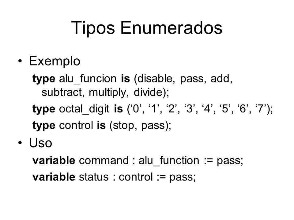Tipos Enumerados Exemplo Uso
