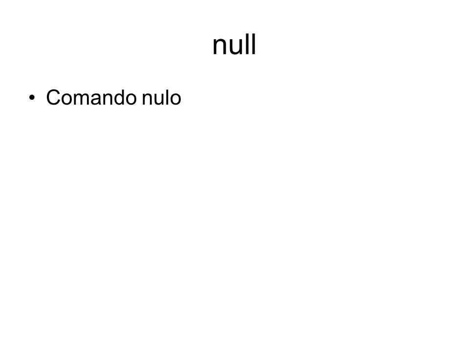 null Comando nulo