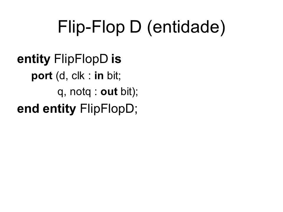 Flip-Flop D (entidade)