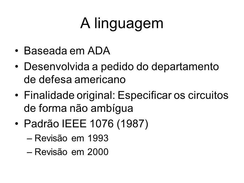 A linguagem Baseada em ADA