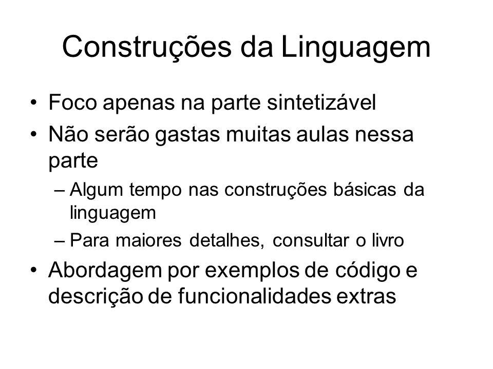 Construções da Linguagem