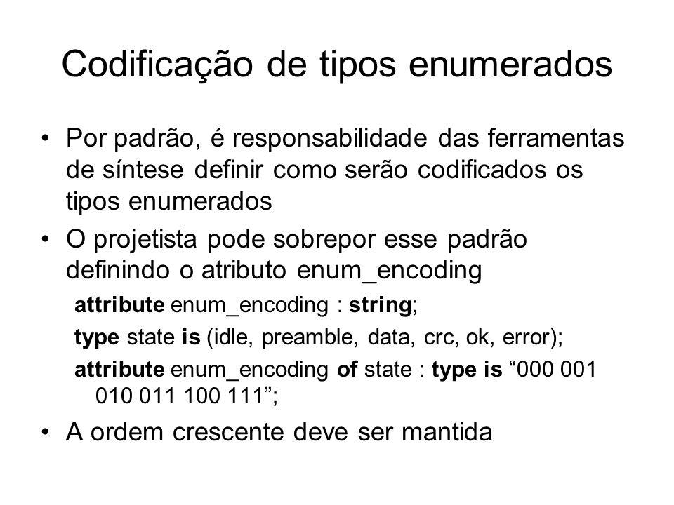 Codificação de tipos enumerados