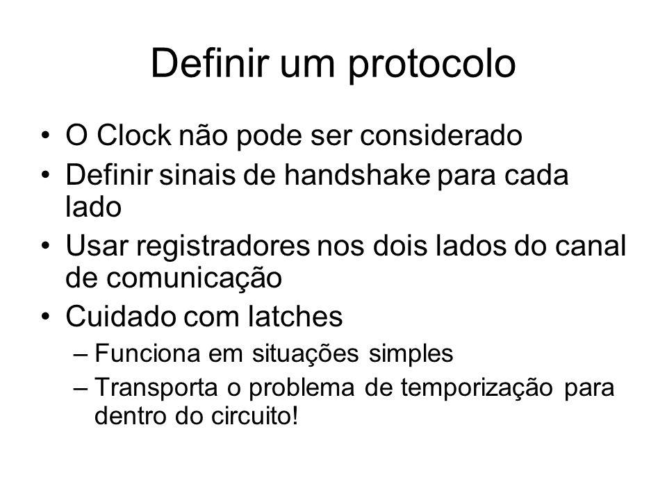 Definir um protocolo O Clock não pode ser considerado