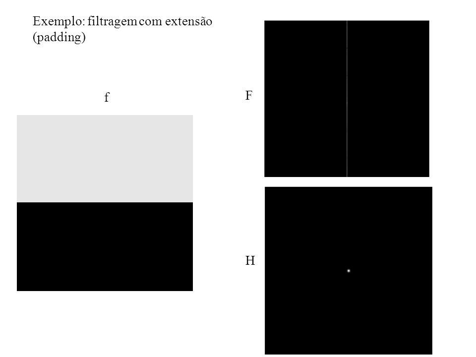 Exemplo: filtragem com extensão