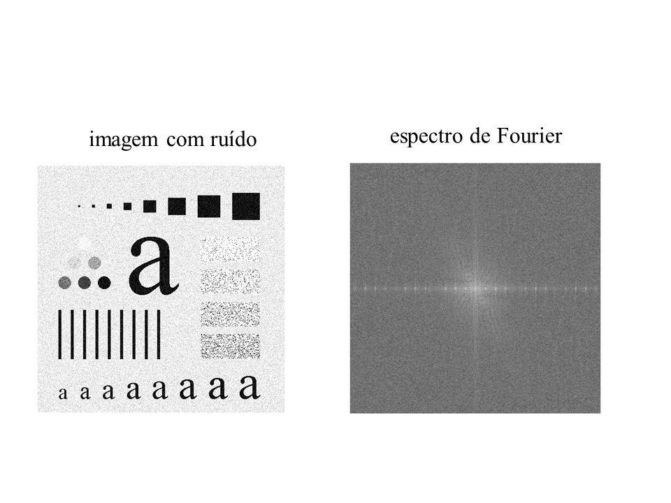 imagem com ruído espectro de Fourier