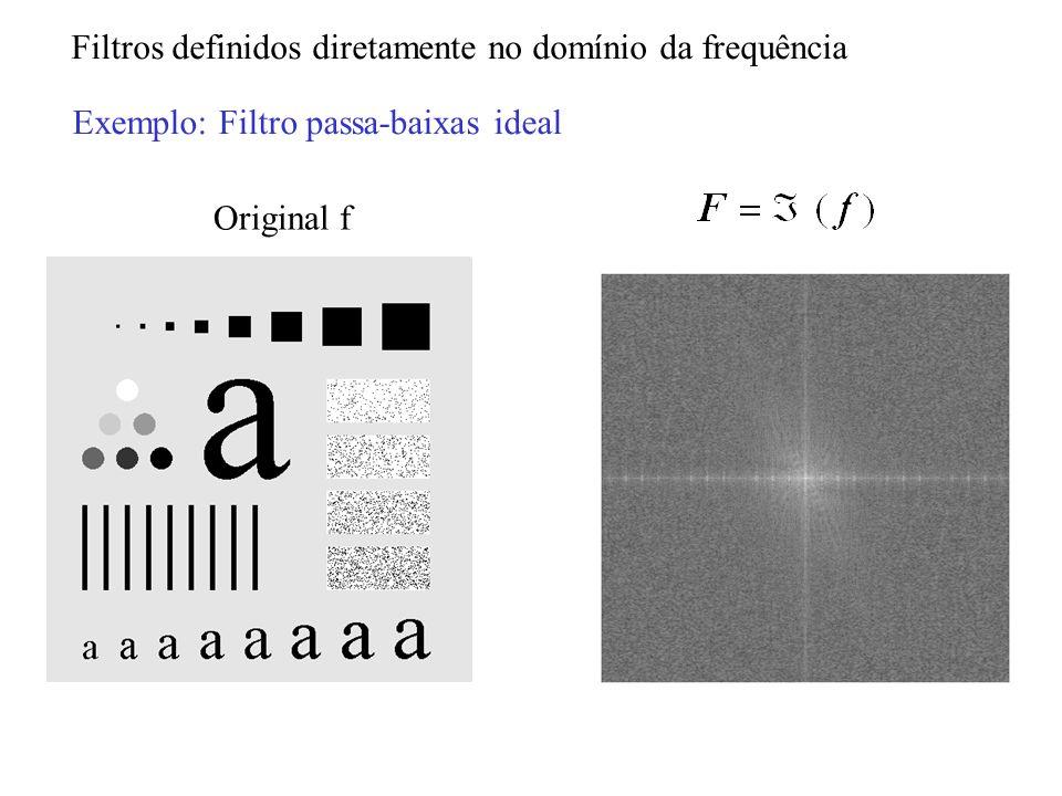 Filtros definidos diretamente no domínio da frequência