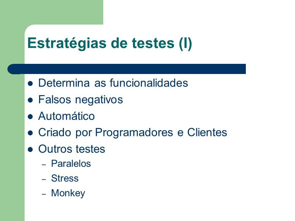 Estratégias de testes (I)