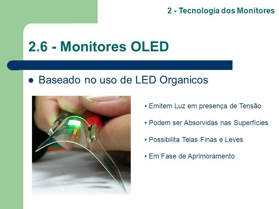 2.6 - Monitores OLED Baseado no uso de LED Organicos