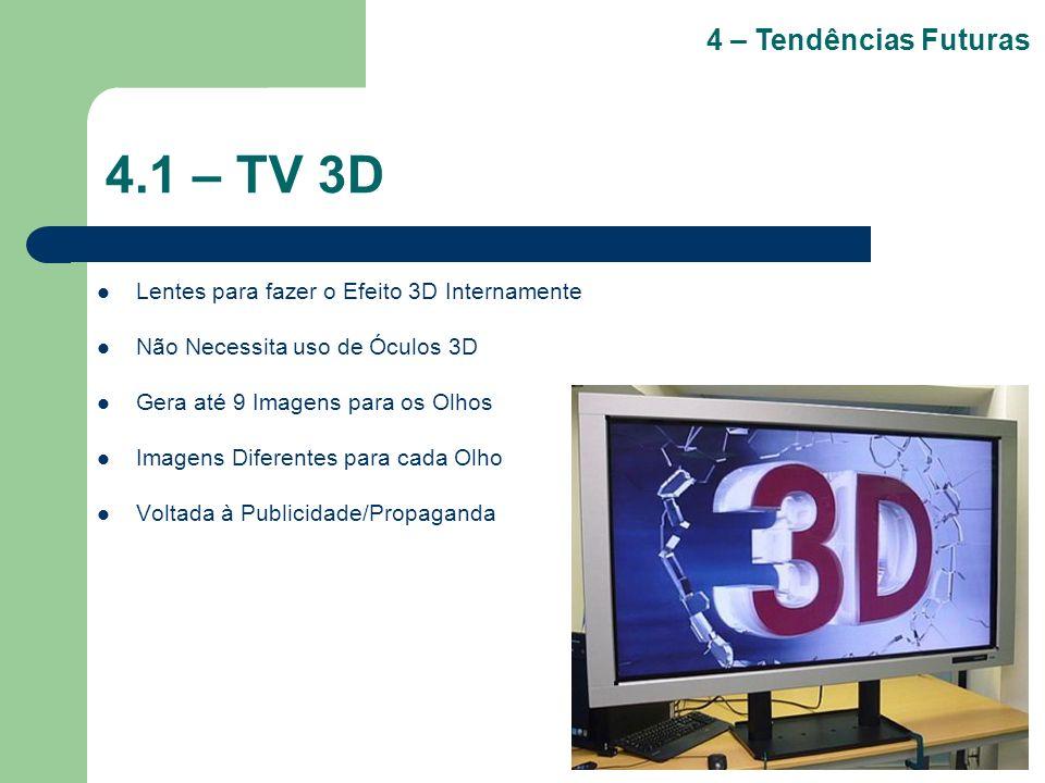 4.1 – TV 3D 4 – Tendências Futuras