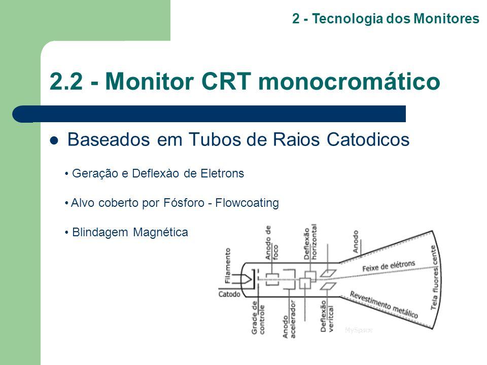 2.2 - Monitor CRT monocromático