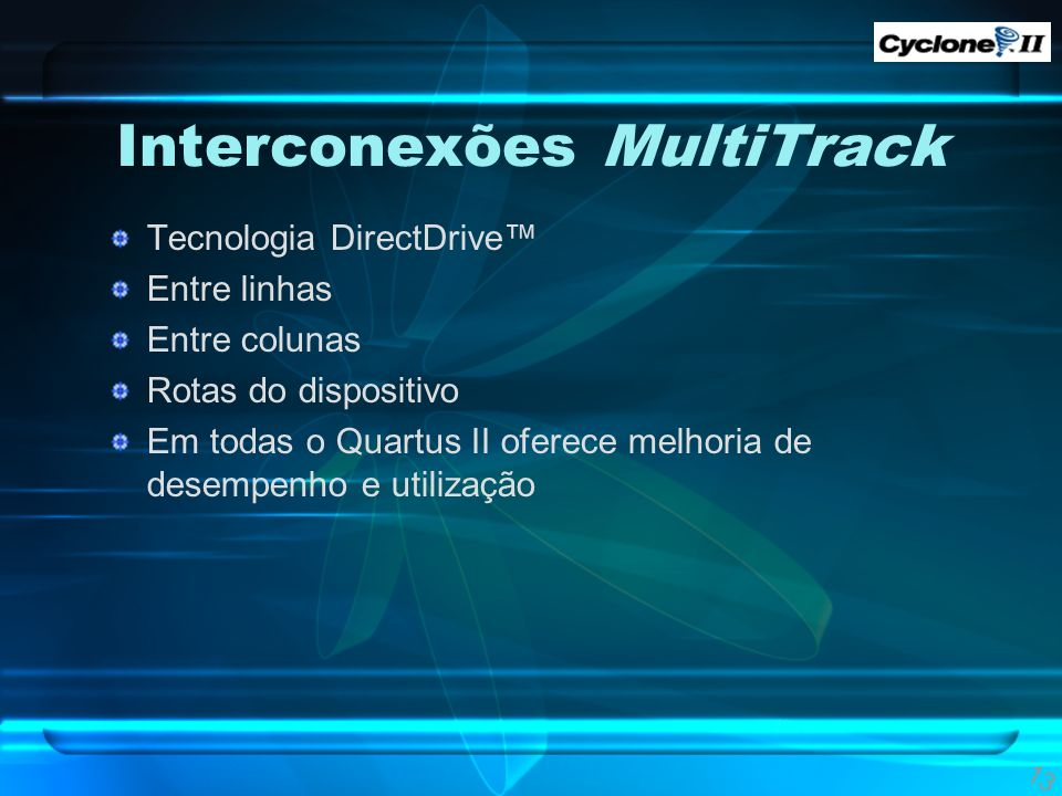 Interconexões MultiTrack
