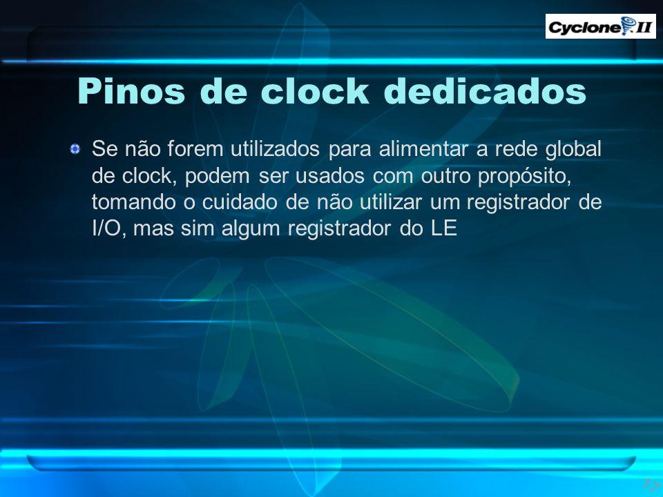 Pinos de clock dedicados