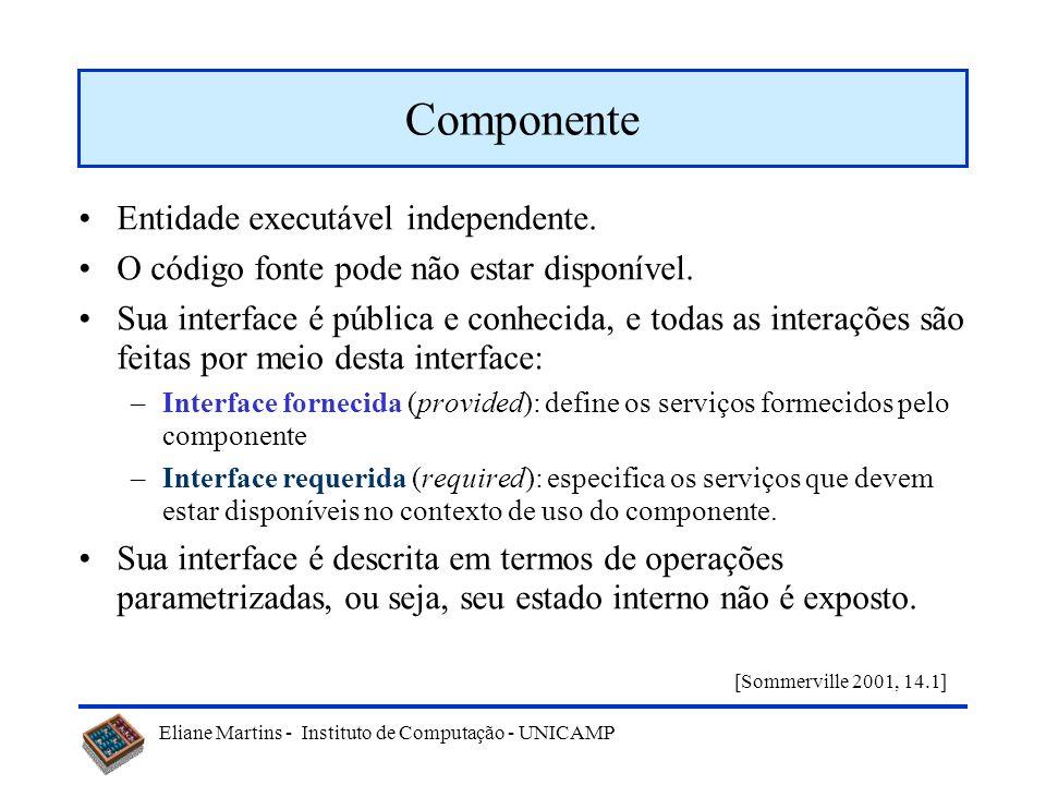Componente Entidade executável independente.