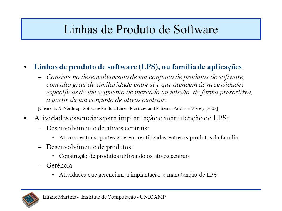 Linhas de Produto de Software