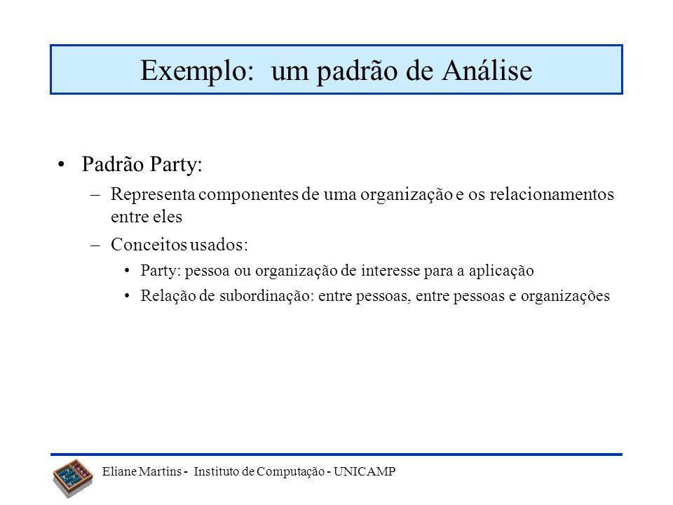 Exemplo: um padrão de Análise
