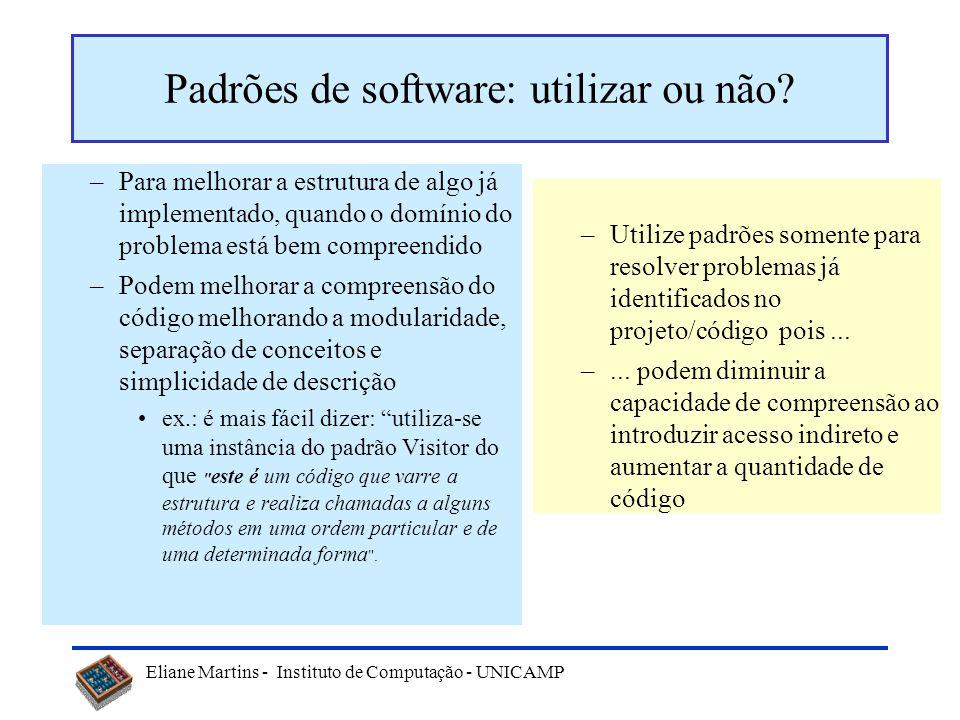 Padrões de software: utilizar ou não