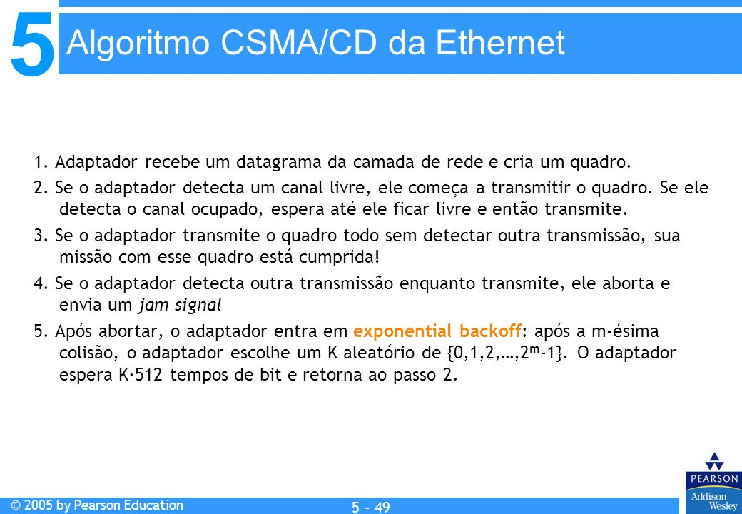 Algoritmo CSMA/CD da Ethernet