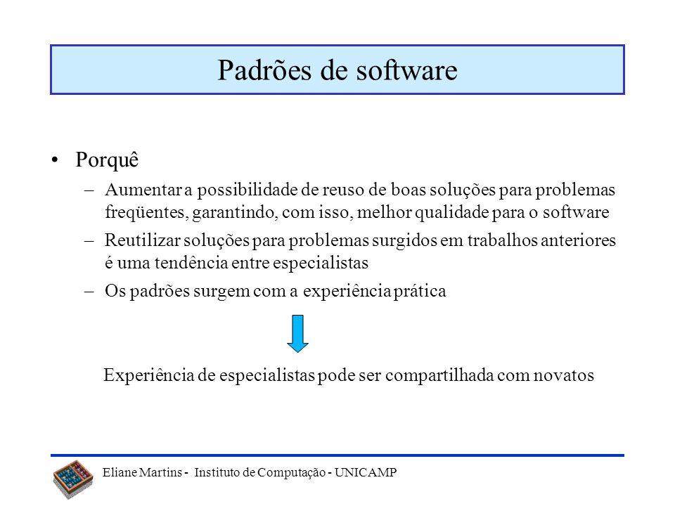 Padrões de software Porquê