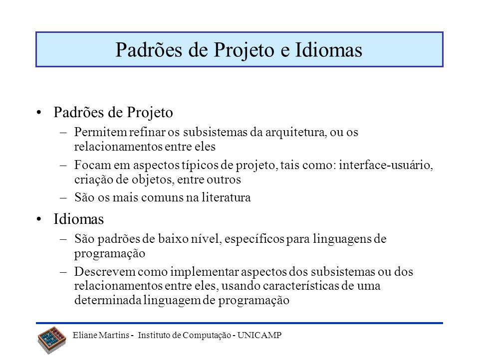 Padrões de Projeto e Idiomas