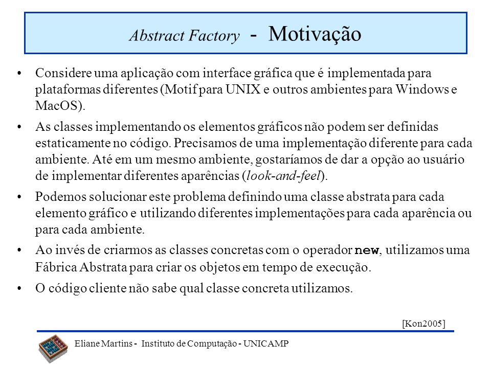 Abstract Factory - Motivação